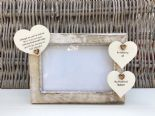 Shabby personalised Chic Photo Frame In Memory Of A Husband Loved One Any Name